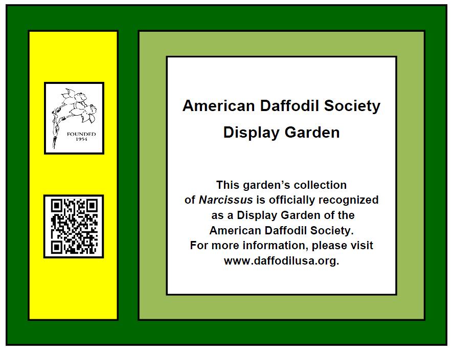 ADS Display Garden Plaque