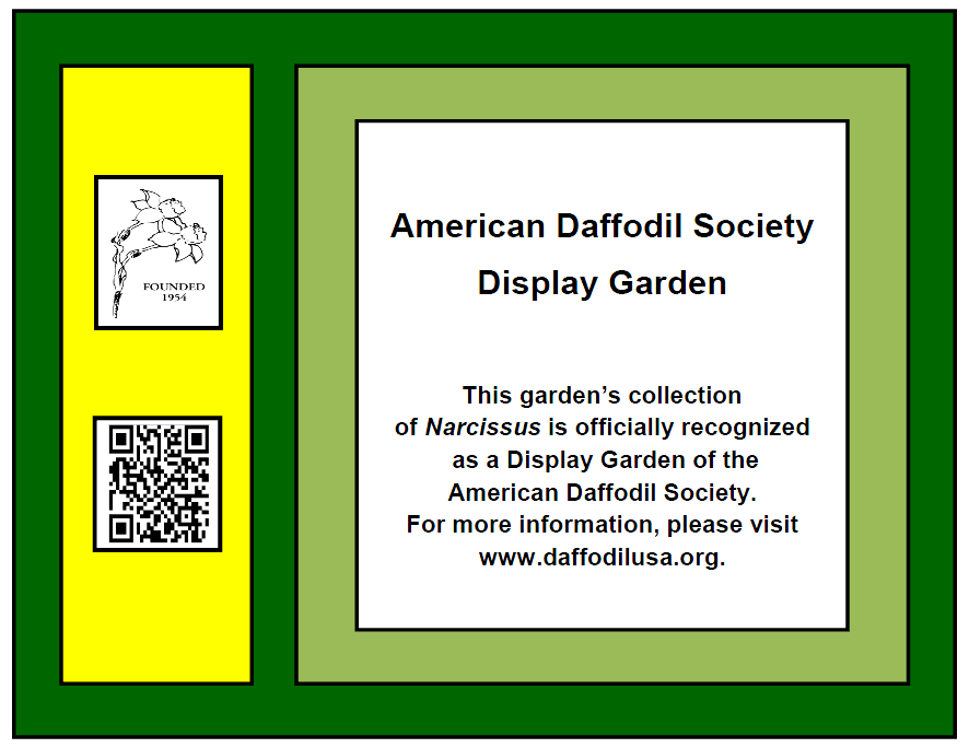 ADS Display Garden Plaque
