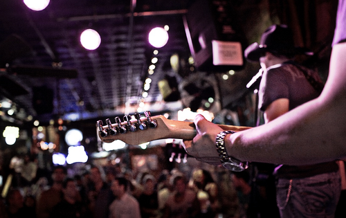 Honky Tonkin' on lower Broadway, Nashville, TN